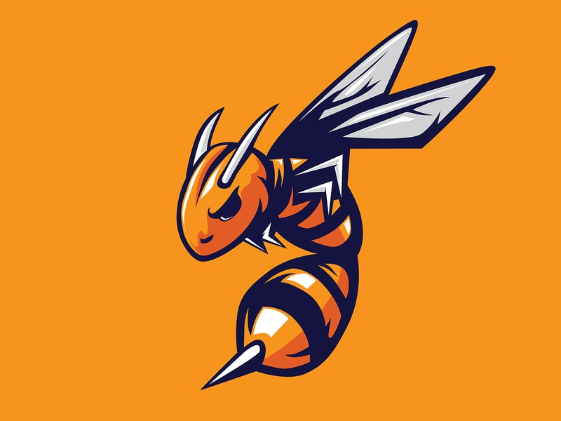 STING BEE MASCOT ILLUSTRATION flight branding vector logo logos animal logo design illustration mascot attack