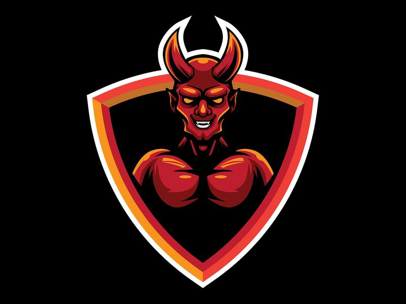 THE RED DEVIL MASCOT redshift3d 666 satan mascot design mascotlogo esports gaming esport logo illustration design mascot devil horns demon devils reddevil