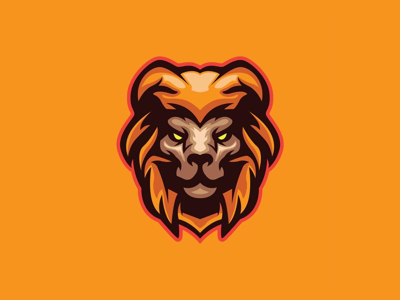 LION HEAD MASCOT lion head mascot design gaming animal vector esport branding illustration design lion logo logo mascot head
