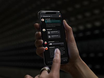 Mumble Mobile App vector logo design branding website uiux landing simple minimal chat app messanger chat