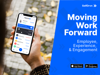 SelfDrvn 2.0 Mobile illustration ux blue ui design uiux simple minimal engagement employee mobile ios