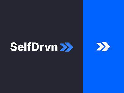 Selfdrvn Logo icon vector ui design blue branding website simple minimal logo design selfdrvn logo