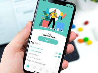 Housemate Management mobile illustration uiux zensite minimal simple