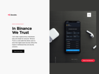 Zensite Landing Page Featuring Binance