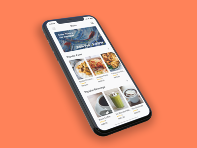 SquareOne Coworking Space App Menu