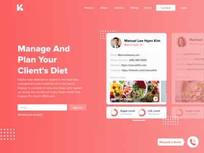 Kalysys   Dietitian Page
