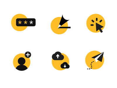 Graphite Icon figma vector illustration yellow minimal simple icon 2d
