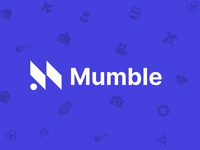 Mumble Banner purple logo vector app illustration branding website uiux landing simple minimal zensite
