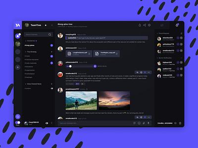 Mumble's main chat room application web app chat ux illustration design ui uiux simple minimal zensite