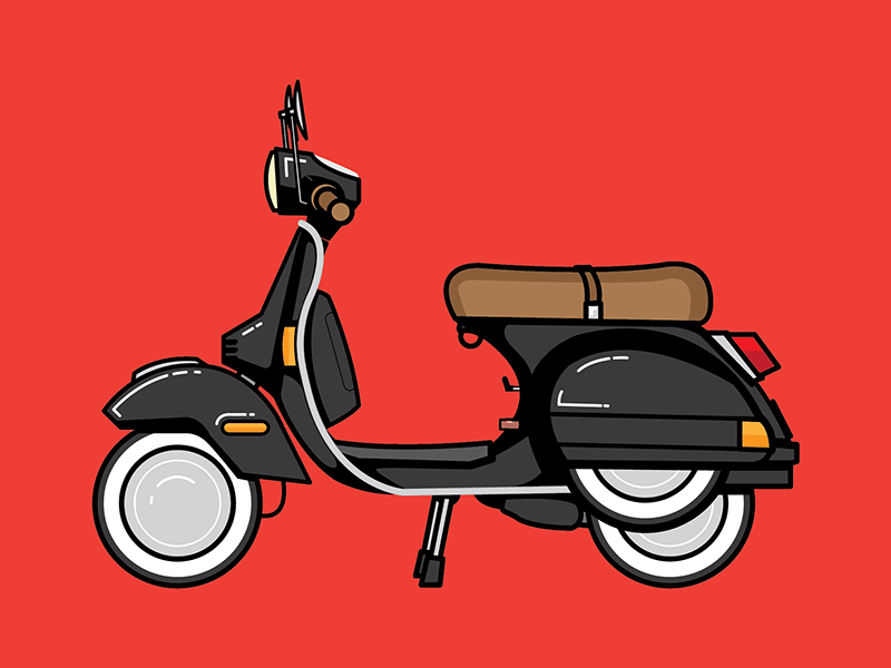 fun little vespa by andrew bromwell dribbble