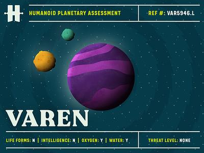 Varen sciencefiction scifiart space exploration planet illustration