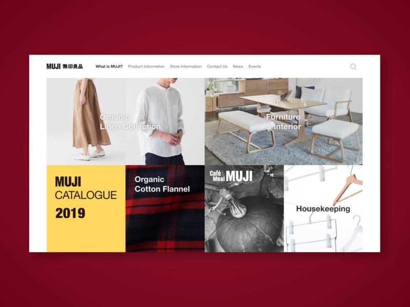 Muji Landing Page fashion dailyui muji