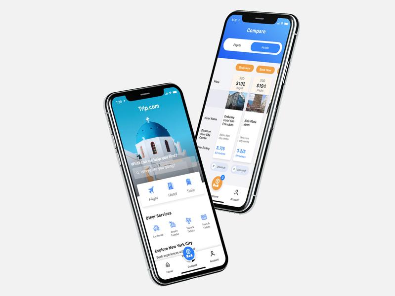 Trip.Com Redesign dailyui design hotel booking flight app booking app travel app tech best shots ui design user interface trip.com ux app  design