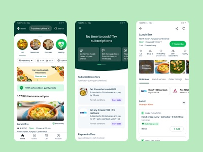 Food subscription app android app mobile ui ux