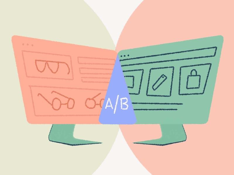 Ab Testing Ideas for eCommerce webdesign website computer illustraion graphic ecommerce ab testing