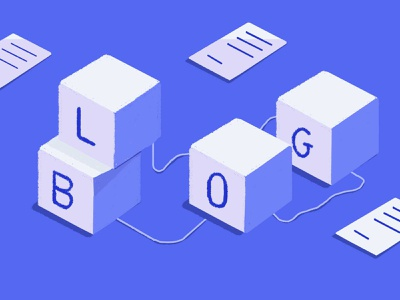 how to optimize your blog content strategy blue isometric cubes illustraion graphic web blog post blog