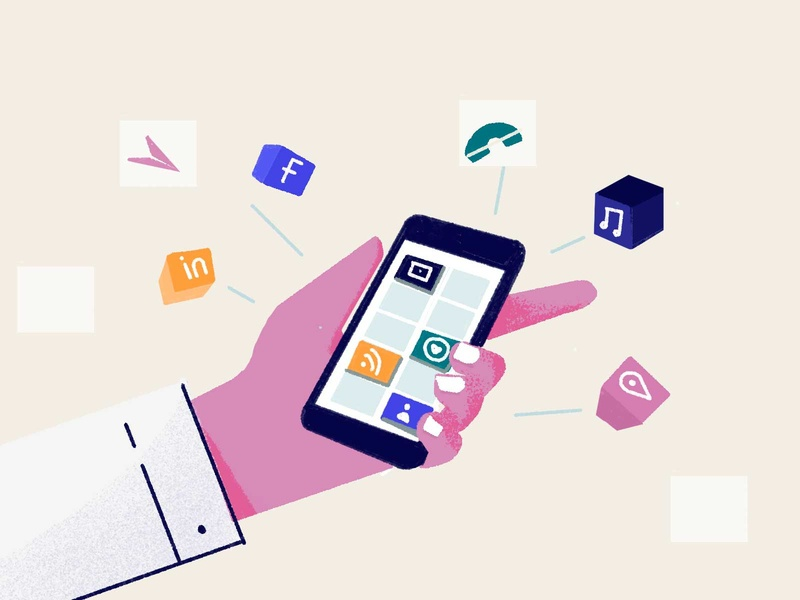 10 reasons why mobile apps are better website illustraion graphic apps mobile apps