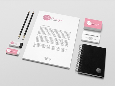 Mirage Hair and Beauty Stationery