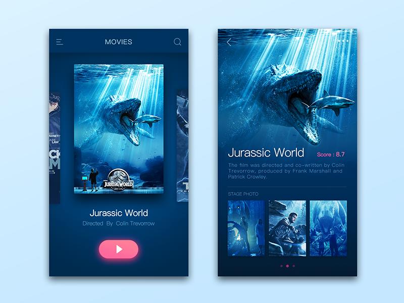 Movies-Jurassic World jurassic world interface blue details video movie