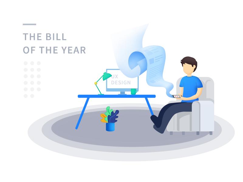 The Bill money finance ui llustration bill work summary