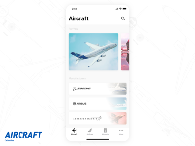 Aircraft App Home Page