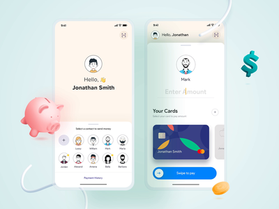 Payment UI Motion Design apple card money transfer payment bank cards ui clean uiux animation uidesign video motion design