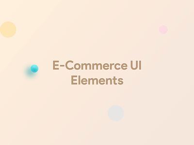 UI Element   e-Commerce element card web mobile ecommerce gif animation shot rebound