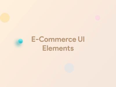 UI Element | e-Commerce element card web mobile ecommerce gif animation shot rebound