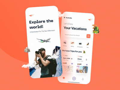 Travel App travel agency traveling design ui uiux plain welcome onboarding app travel