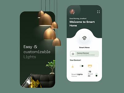 Smart Home trending 2021 uiux design home electricity light smarthome iot