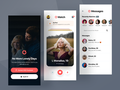 Dating App inspiration dailyui sexchat chat message homepage onboarding lovematch ui datingapp