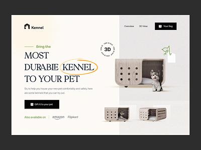 Kennel Header Design🔥 flipkart amazon shop houses dogs webdesign graphics highlight design pattern hero section hero banner