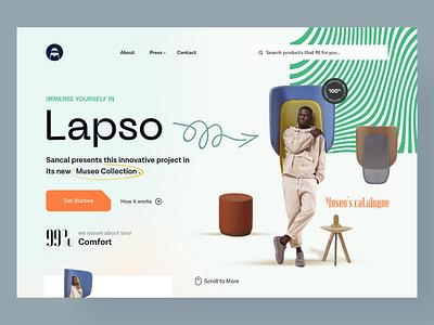 Web Header-Lapso 2021 concept uiux web chair header design webdesign