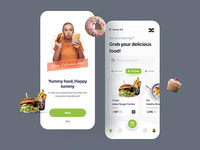 Food App online store order cart restaurant service food