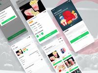 Popcorn and Cock App UI 🍿🥤