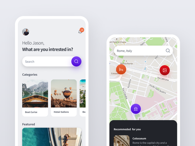 Travel App figma freebie design system travel app mobile