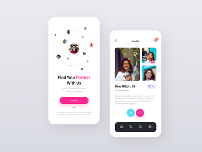 Dating App figma design system freebies dailyui mobile dating
