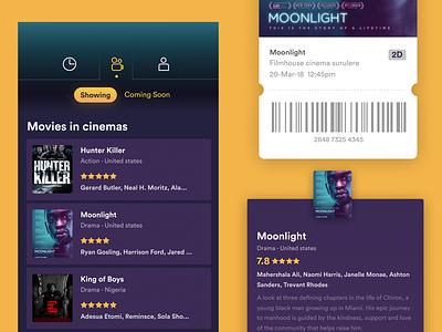 Now Showing cinema dark app movie ticket