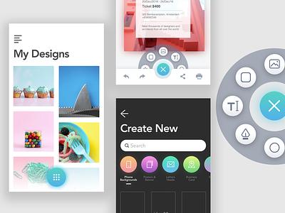 Design App insert edit clean canva app mobile design