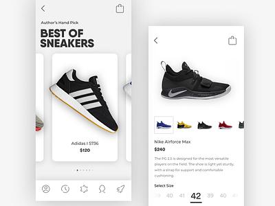 Sneakers sport adidas nike app shoes clean mobile