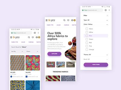Yana Mode Mobile purple fashion ecommerce mobile ui responsive website