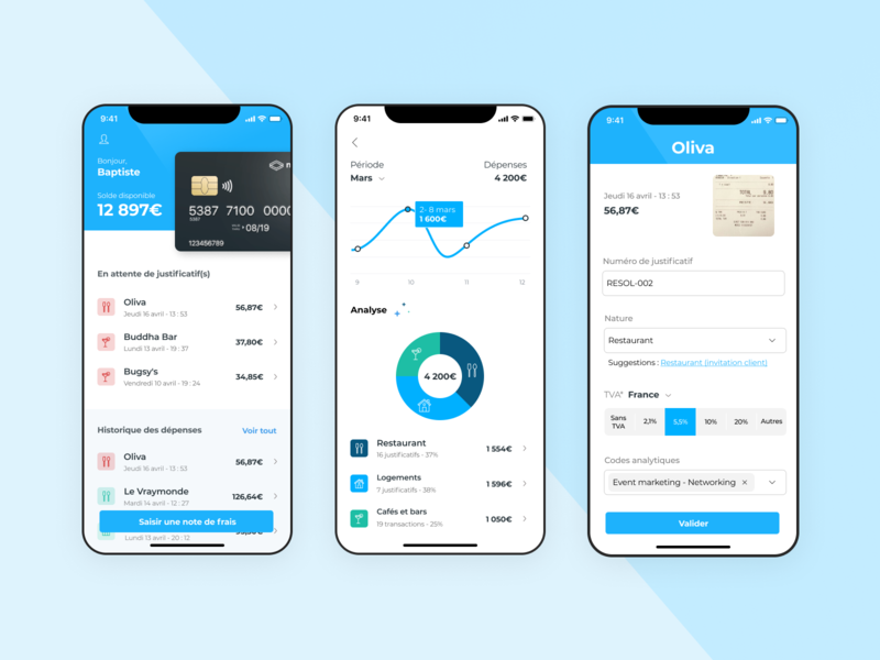 Expense report inspiration uxdesign uidesign dashboard dataviz fintech mobile ios debut design ux ui app