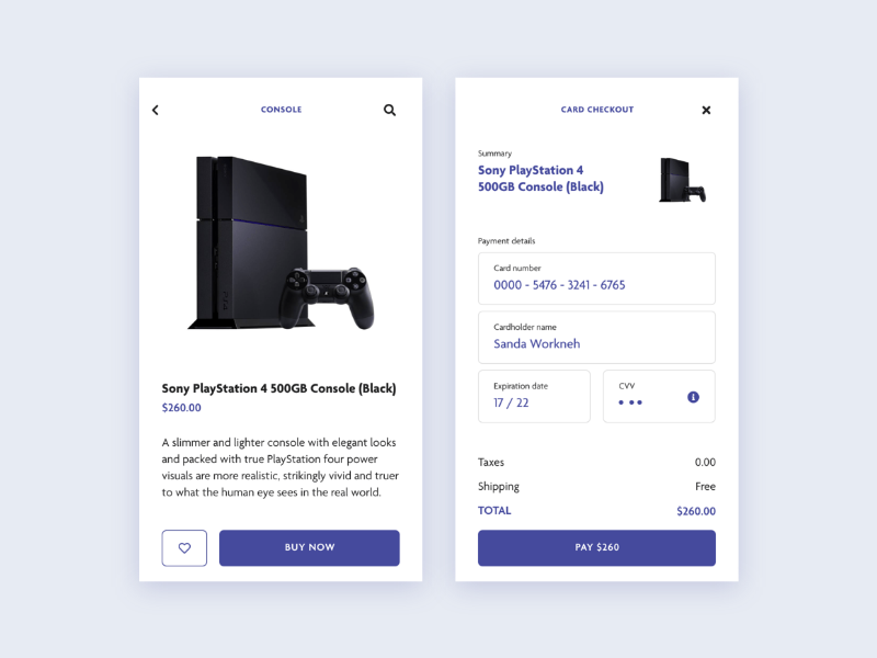 DailyUI - 002 / Credit Card Checkout by Florin Troscolan on