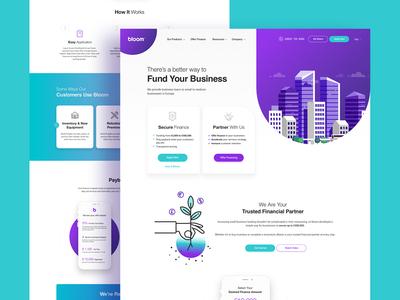 Bloom - Landing Page Design