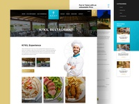 Hotel & Resturant Website - Luxury Design