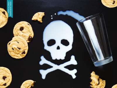 Milk Allergy - Skull food allergies allergy cookies crossbones skull milk