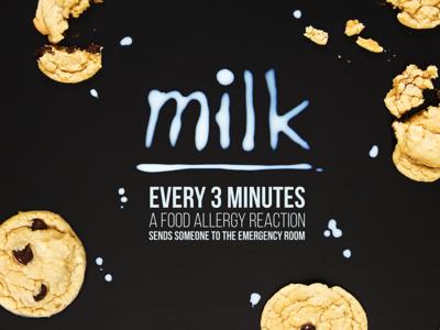 Milk Allergy - Typography food allergies food allergies allergy cookies typography milk