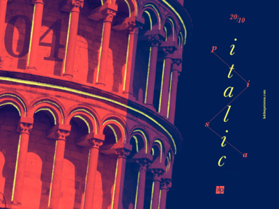 04 Pisa travel  typography photographic design leaning tower photography pisa italy italia experimental duotone design