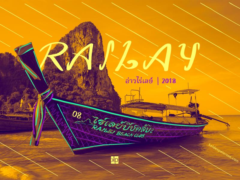08 Railay Beach krabi railay beach thailand visual souvenirs photographic design design travel duotone photography typography