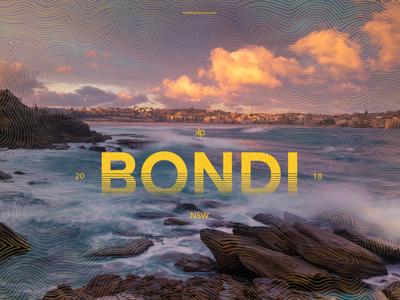 12 Bondi Beach typography visual souvenirs travel sydney photography photographic design australia